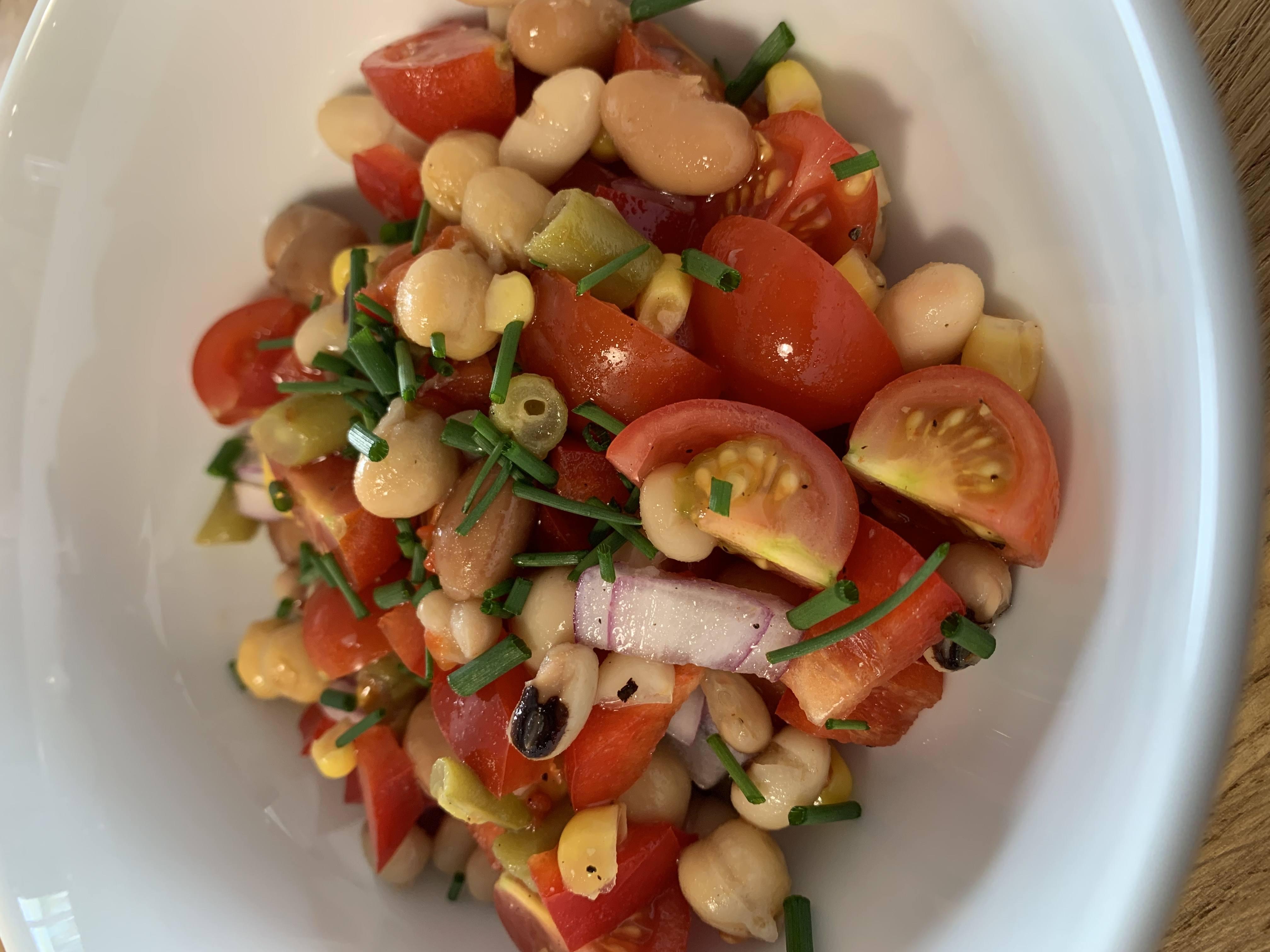 Zingy Salsa Bean Salad